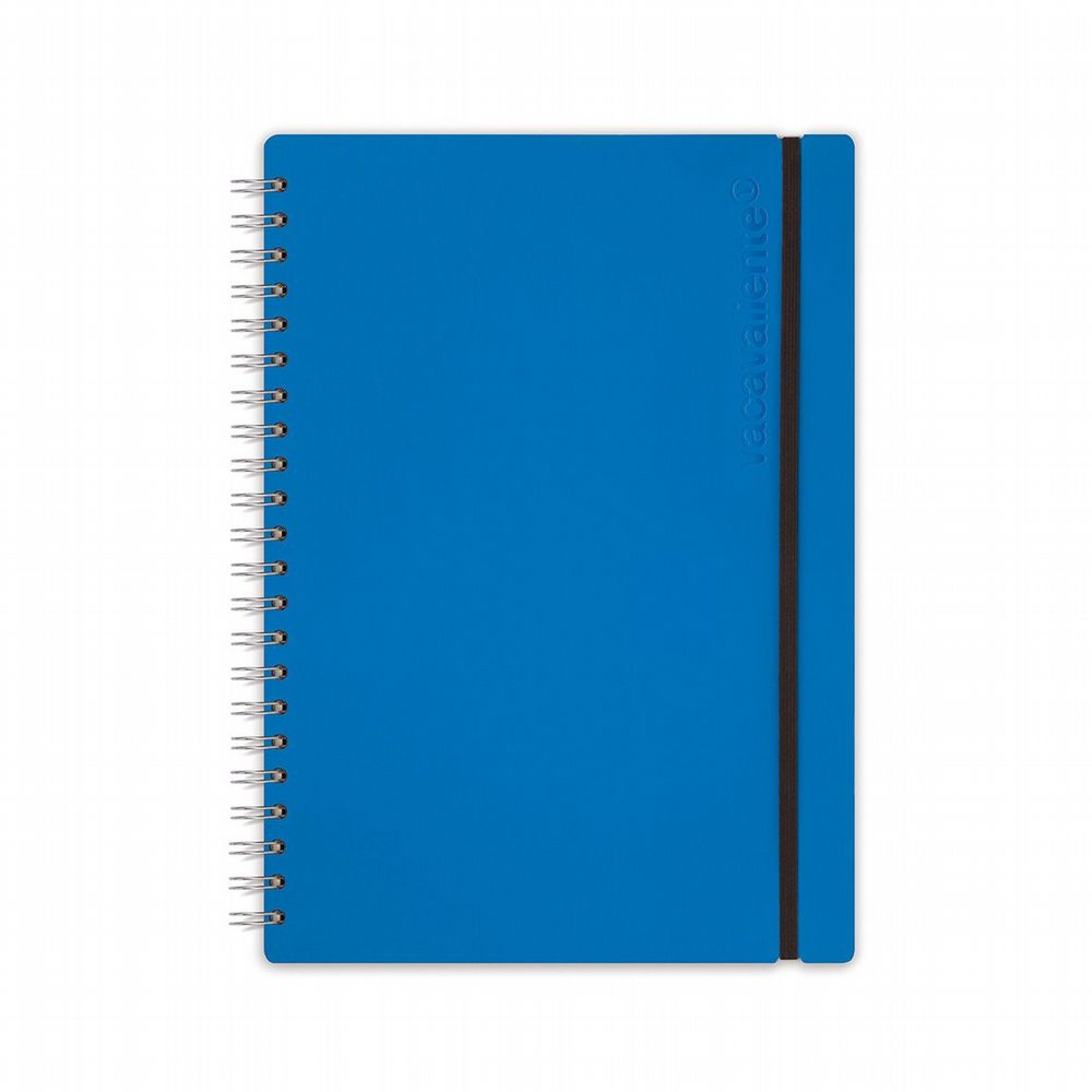 Recycled Leather - Ruled Notebook - Blue